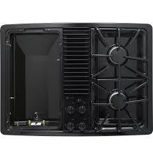 ge profile built in downdraft gas modular cooktop pgp990denbb