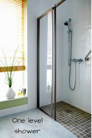 roll in handicapped shower with barrier free shower base u2013 carisa info