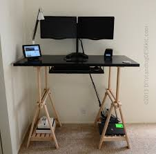 Standing Height Desk Ikea More Ikea Hacking Standing Desk Reviews