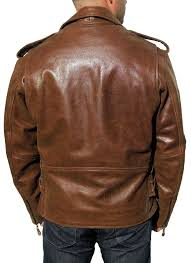 leather cycle jacket men u0027s retro brown buffalo hide classic leather motorcycle jacket