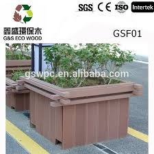high quality wpc composite decking flower diy plastic tree pot