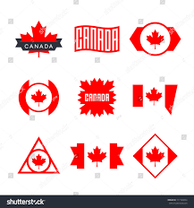 canada flag logo design graphics canadian stock vector 717109054
