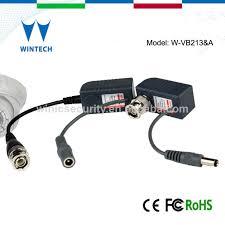 cctv power video balun bnc to rj45 converter with power buy bnc