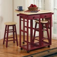 marvelous small drop leaf kitchen islands with red paint colors