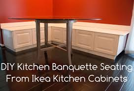 Diy Storage Bench Plans by Diy Kitchen Banquette Bench Using Ikea Cabinets Ikea Hacks