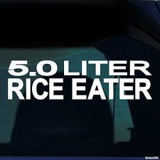jdm sticker on car decal 5 0 liter rice eater jdm buy vinyl decals for car or