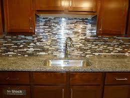 mosaic backsplash kitchen tile ideas metal glass white self