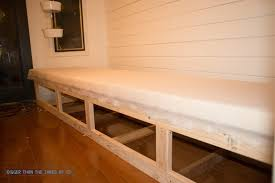 built in dining room bench built in banquette tutorial bigger than the three of us