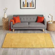 ochre boston border wool rug dunelm salon joli pinterest