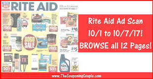 rite aid weekly ad scan 10 1 17 10 7 17 rite aid ad preview