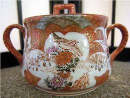 Japanese Kutani Vases Meiji Period Japanese Kutani Porcelain Shoza Style Tea Set Marked