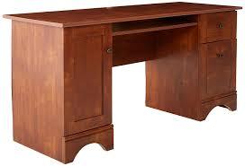 amazon com sauder computer desk brushed maple finish kitchen