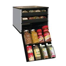 youcopia classic spicestack 24 bottle spice organizer in silver
