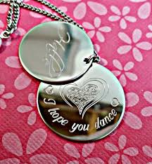 personalized engraved necklaces personalized engraved 3 discs necklace iheartpersonalized