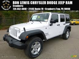 rubicon jeep 2016 black 2016 bright white jeep wrangler unlimited sport 4x4 108108640