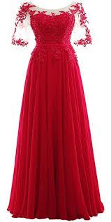 Cheap Bac Longue Cheap A Line Red Chiffon Bac Red Chiffon Prom And