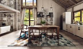 esszimmer teppich dieser teppich mit buntem wabenmuster besitzt eine moderne