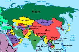 map asie cartes de l asie et informations sur le continent asiatique
