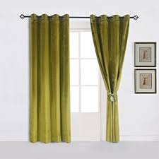 Amazon Thermal Drapes Amazon Com Super Soft Luxury Velvet Moss Green Olive Greenset Of