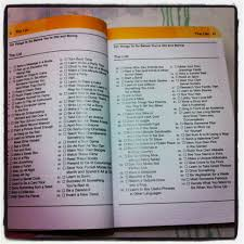 101 things to do before you u0027re old and boring sing pray read