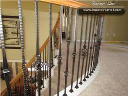 Wrought Iron Stair by High Quality Powder Coated Iron Stair Parts Stair Spindles Iron