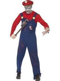 Zombie Halloween Costumes Boys Men U0027s Boys Zombie Mario Plumber Costume Hat Dead Halloween