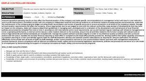 revenue controller resumes u0026 cover letters