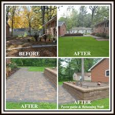 Backyard Renovations Before And After Your Local Landscaping Contractor Photo Gallery