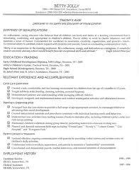 Child Care Assistant Resume Sample by Teachers Aide Resume Berathen Com