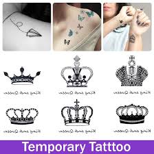 temporary crown tattoo design tatoo for woman waterproof