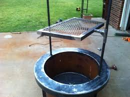 Fire Pit Ring With Grill by Build A Fire Pit With Cooking Grill In Your Backyard