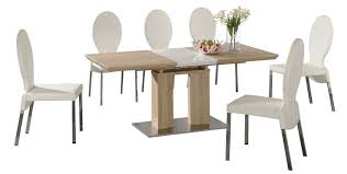 White Gloss Dining Table And Chairs Extending Dining Tables In Solid Oak And Walnut Innovative