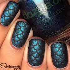 27 best mermaid nails scale nails nail art images on pinterest