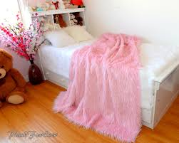 Faux Fur Blankets And Throws Pink Mongolian Faux Fur Throw Blanket Comforters Luxurious