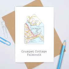 bombus personalised map location card new home housewarming card