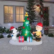 snoopy tree snoopy and brown tree airblown christmas tree