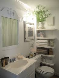 tiny bathroom storage ideas purple color white acrylic tub white
