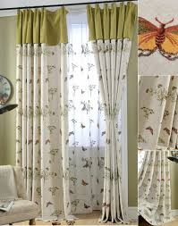 livingroom curtains and lime green butterfly botanical living room curtains