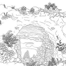 island coloring page illuminations the mackinac island coloring book for grown ups