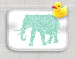 mandala bath rug etsy