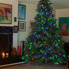 9 ft pre lit artificial tree 700 dual color leds switch