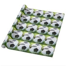 soccer wrapping paper soccer happy birthday gifts on zazzle