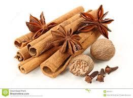 Cloves Cinnamon Anise Nutmeg And Cloves Royalty Free Stock Photography
