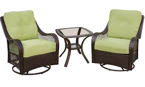 Patio Set With Swivel Chairs Hanover Orleans3pcsw Orleans 3 Piece Patio Set With 2 Swivel