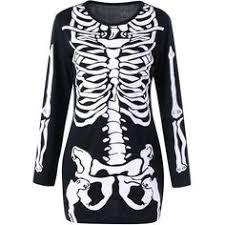 Halloween Skeleton Costume D8949 Red Bad Bone Halloween Skeleton Costume Products