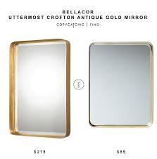 Uttermost Mirror Bellacor Uttermost Crofton Antique Gold Mirror Copycatchic