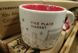 mug ornament starbucks you are here ornaments 2014 1912 pike place exclusive