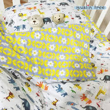 Train Cot Bed Duvet Cover 3pcs Set 100 Cotton Baby Crib Bedding Set Kids Cot Bedding Set
