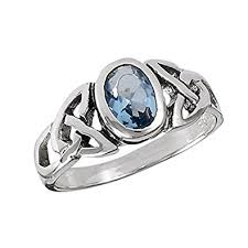 celtic knot ring sterling silver blue topaz celtic knot ring sizes 4 5