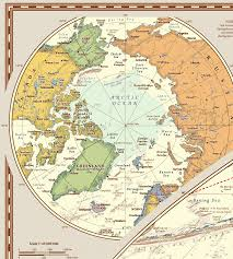 North Pole Map Antique Style Laminated Political World Wall Map U2013 Map Logic